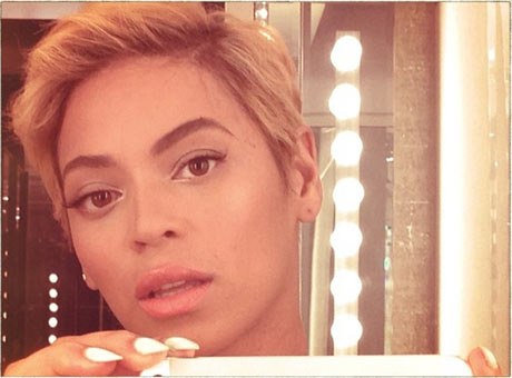 Beyoncé and her new pixie crop