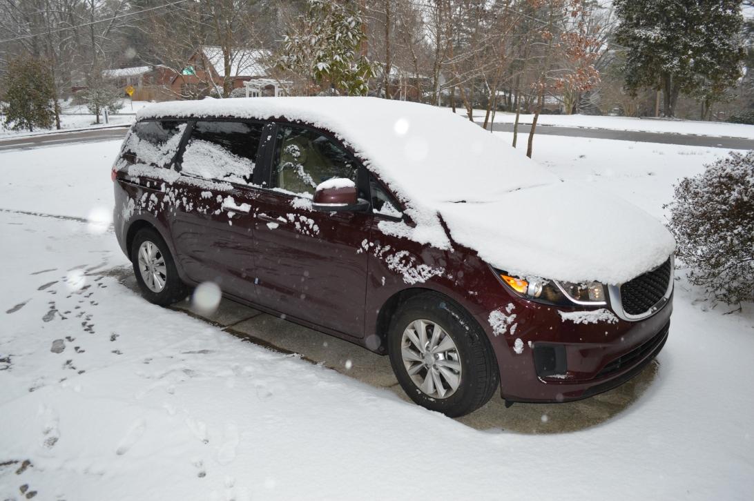 Snow-covered van!
