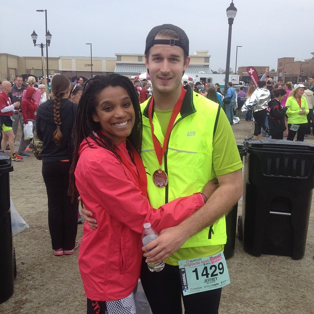 This was Jeff's first marathon!